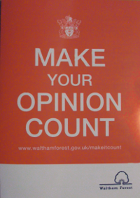 Make Your Opinion Count leaflet